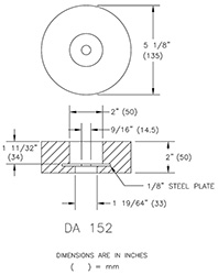 Flanged Disc Anode